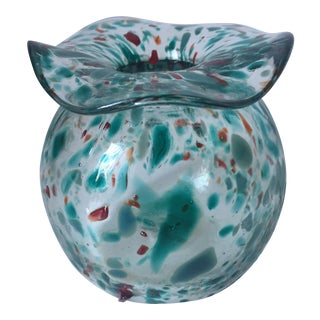 Art Glass 'Confetti' Bud Vase-Signed