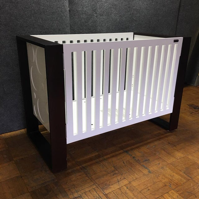 Modern Brown & White Crib by Nursery Works - Image 2 of 9