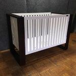 Image of Modern Brown & White Crib by Nursery Works