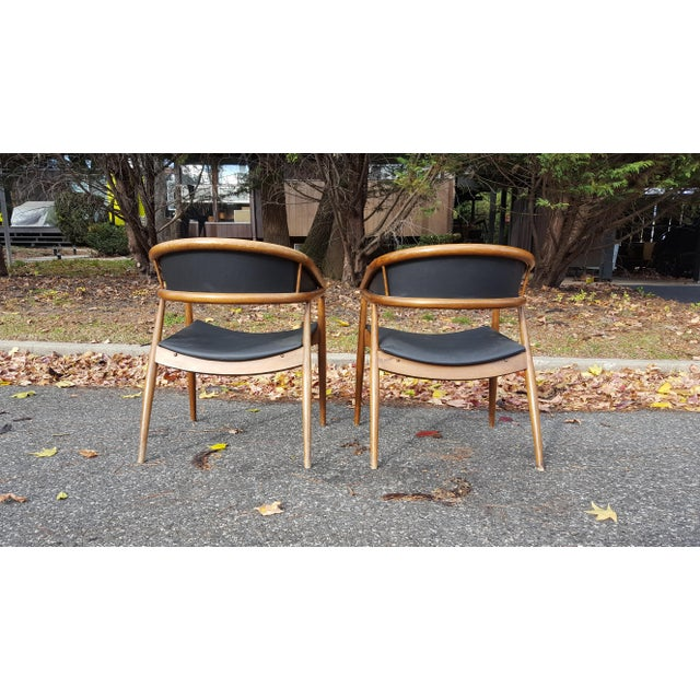 James Mont Vintage Mid-Century Lounge Chairs - A Pair - Image 3 of 7