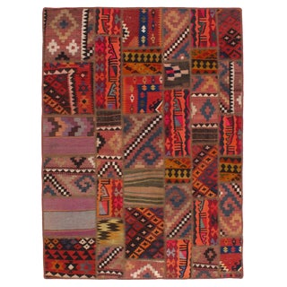 Pasargad N Y Persian Patch-Work Hand-Knotted Area Rug - 5′ × 6′9″