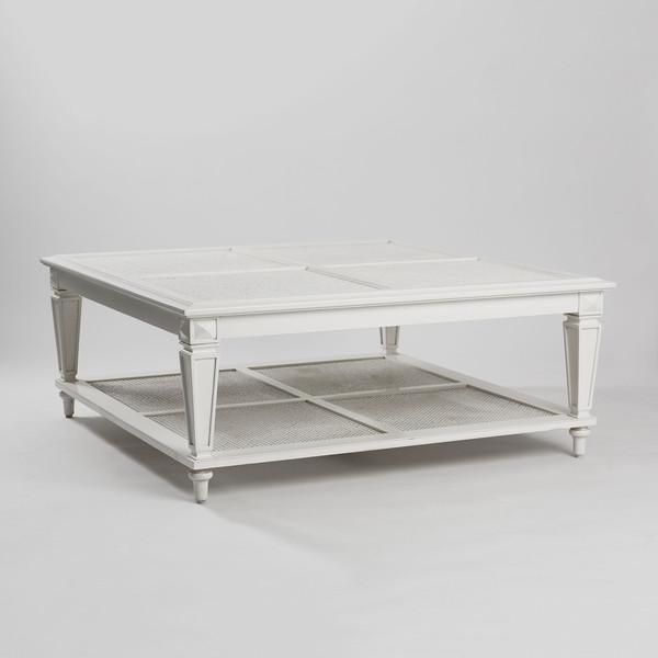 Image of New Caned & Glass Coffee Table