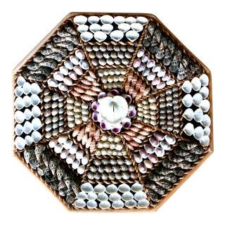 Octagonal Seashell Collage Wall Art