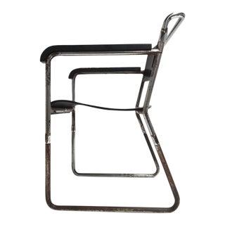Rare Hopmi Tubular Chair by Architect H.f. Mertens for Ums Pastoe, 1932