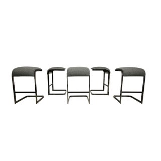 DIA Chrome Cantilevered Bar Stools - Set of 5