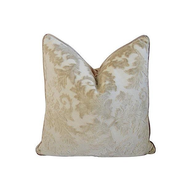 Gray French Cut/Uncut Velvet Pillows - A Pair - Image 2 of 7