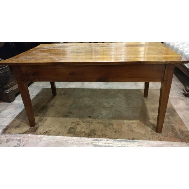 19th Century French Farm Walnut Coffee Table - Image 8 of 10