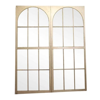 Arched Multi Pane White Arched Windows