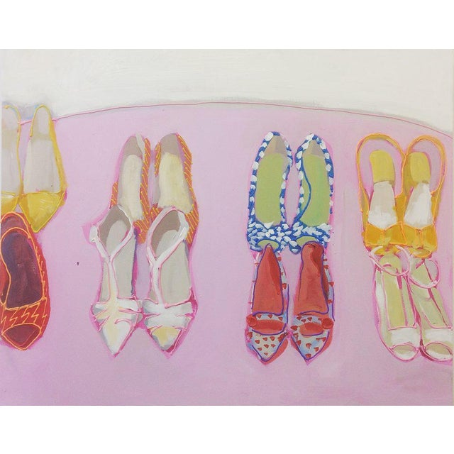 Megan Coonelly Omg Shoes Acrylic Painting - Image 3 of 3