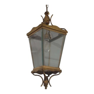 Vintage Italian Brass Lantern Hanging Light