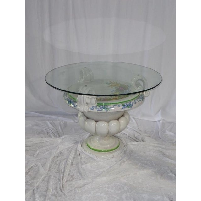 Italian Della Robbia Style Patio Table - Image 6 of 6