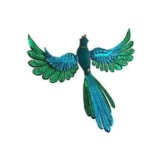 Vintage Crowned Bird Clip Ornament