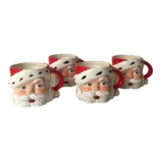 Mid Century Santa Mugs - Set of 4