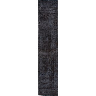 "Apadana - Vintage Overdyed Distressed Rug, 2'6"" x 12'5"""