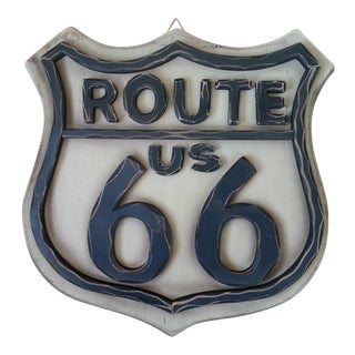 Route 66 Wood Wall Sign