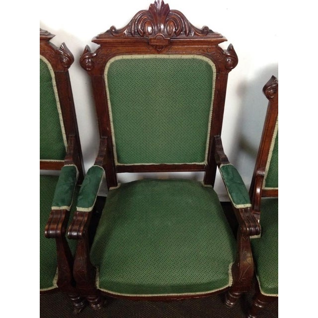 Rococo Revival Carved Dining Chairs - Set of 4 - Image 2 of 4