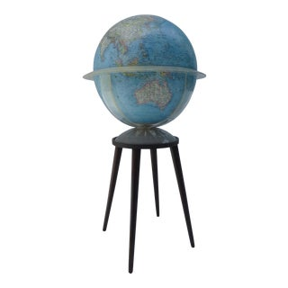 Vintage National Geographic Globe & Stand - A Pair