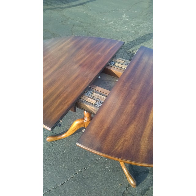 1970s Vintage Solid Cherry Dining Set - Image 4 of 6