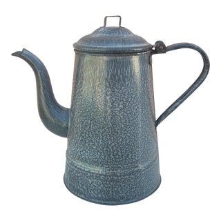 Vintage Gray Graniteware Coffee Pot