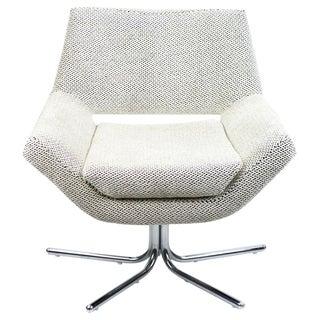 Mod Swivel Chair on Chrome Base-New Upholstery
