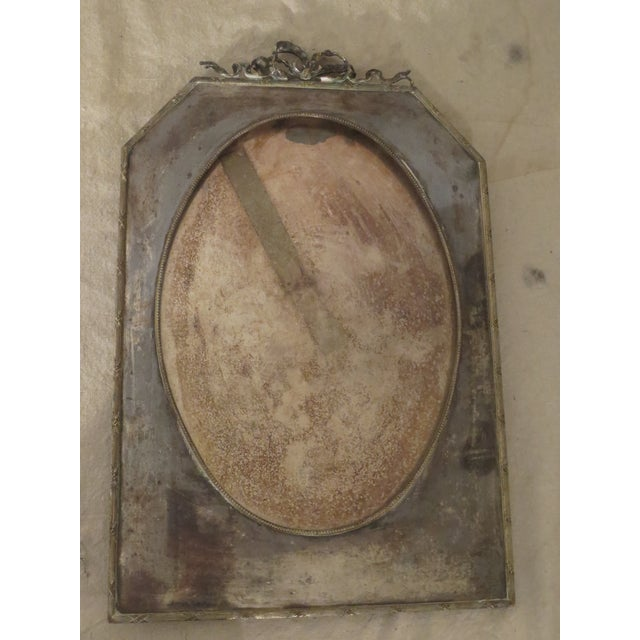 Large 19th Century Silverplate Picture Frame - Image 7 of 7