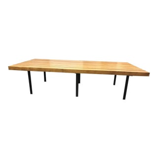 Mid-Century Slatted Wood Coffee Table or Bench