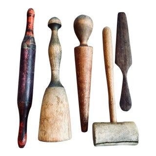 Antique Kitchen Tools - Set of 5