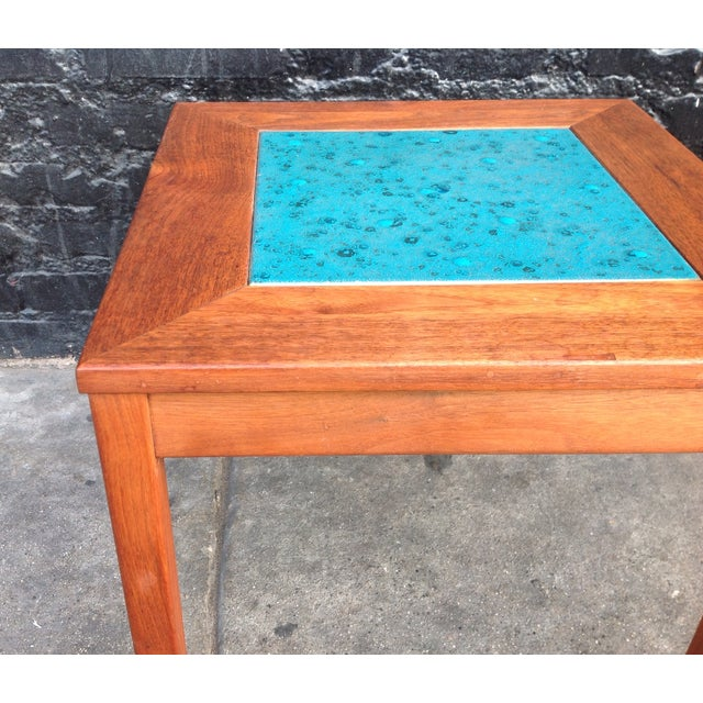 Mid-Century Brown Saltman Side Tables - A Pair - Image 6 of 7