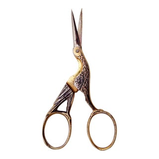 Vintage German Stork Embroidery Scissors