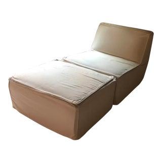 ABC Furniture Chair & Ottoman - A Pair