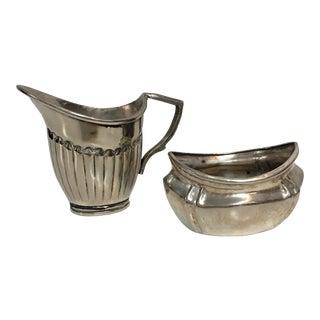 Silver Plate Sugar & Creamer Set - A Pair