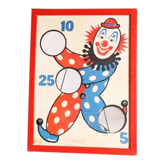 Vintage Whimsical Clown Carnival Game Wall Art