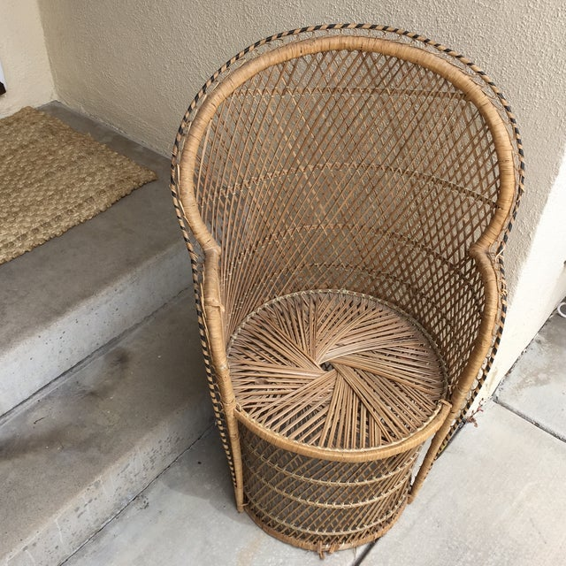 Vintage Boho Chic Wicker Chair - Image 4 of 10