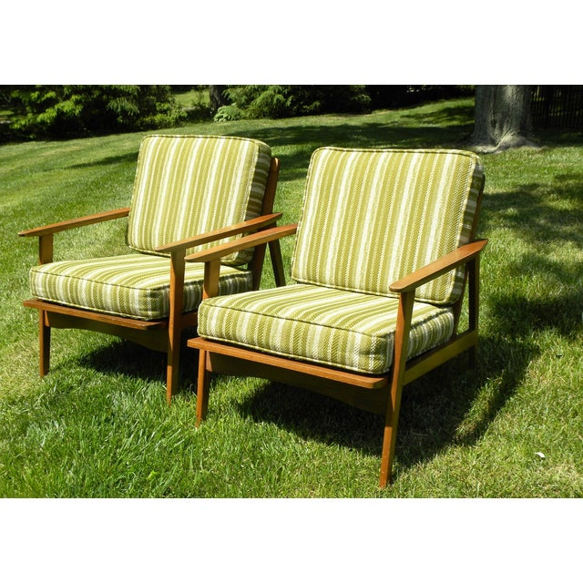 Vintage Mid Century Lounge Chairs - A Pair - Image 2 of 7