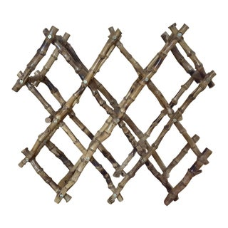Vintage Boho Chic Bamboo Expandable Wine Rack