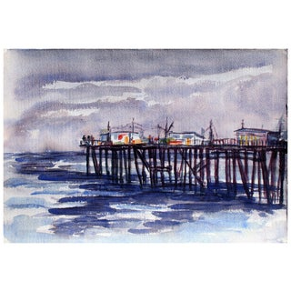 Distant Pier Painting by Doris Warner