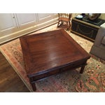 Image of Square Elm Wood Coffee Table