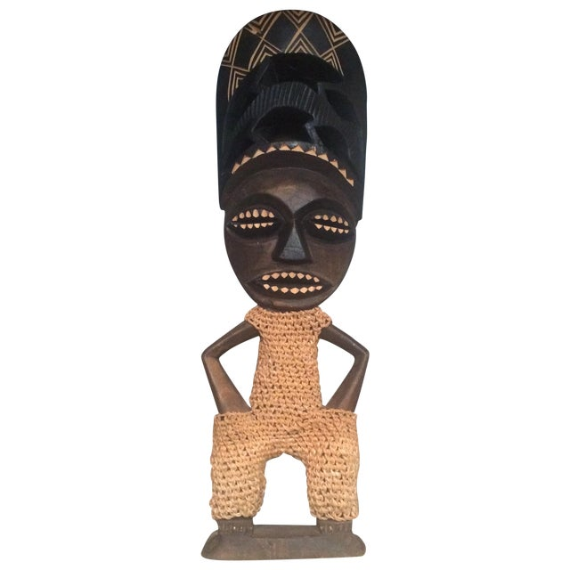 Mid-Century Carved Wood Figure - Image 1 of 6