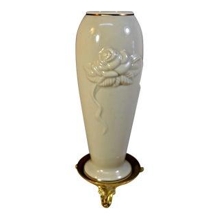 Vintage Lenox Porcelain Rosebud Vase