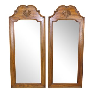 Mid Century Walnut Mirrors - A Pair