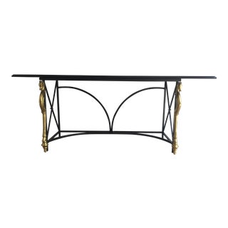 Hollywood Regency Maison Jansen Style Console Table