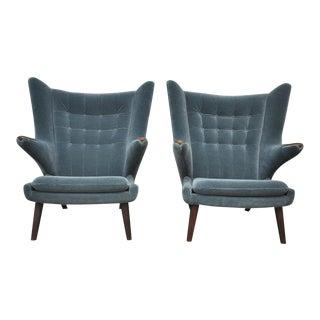 Pair of Hans Wegner Papa Bear Chairs