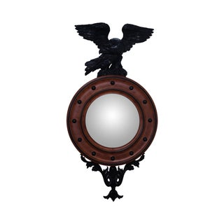 Large Custom Federal Style Convex Mirror & Eagle