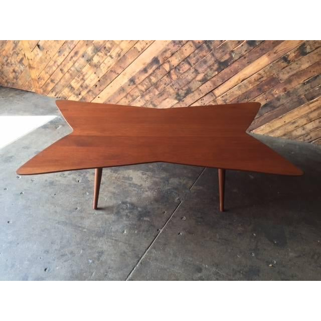 Mid-Century Bow Tie Coffee Table - Image 6 of 6