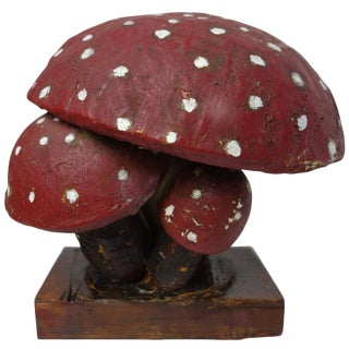 French Paper Mâché Model of an Amanita Mushroom
