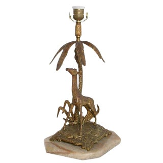 Figural Bronze table lamp
