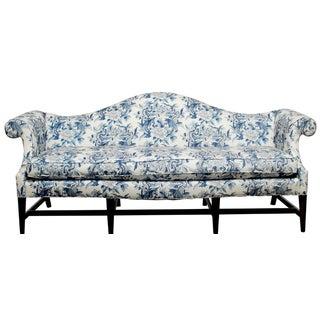 Ralph Lauren Chinoiserie Fabric Camelback Sofa
