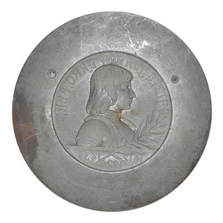1910 French Joan of Arc Bronze Medal Pendant Mold
