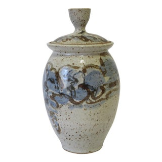 Mid-Century Ceramic Lidded Vessel