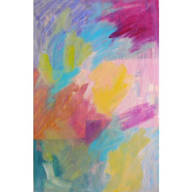 Original Abstract Painting on Wood - Image 1 of 6